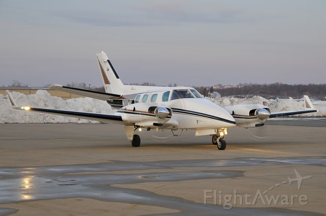 """Beechcraft Duke (N111WK) - Seen at KFDK on 2/20/2010    <a href=""""http://discussions.flightaware.com/profile.php?mode=viewprofile&u=269247"""">  [ concord977 profile ]</a>"""