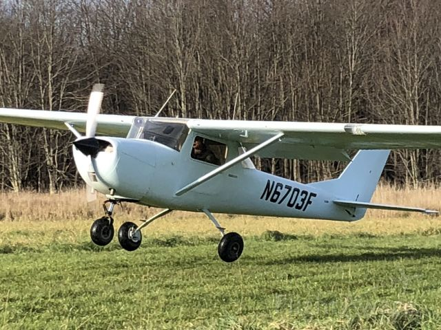 Cessna Commuter (N6703F) - A great day to be flying. You'll always remember your first airplane.