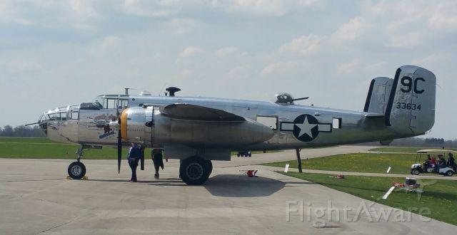 — — - B-25 Gathering, Grimes Field, Urbana, Ohio.