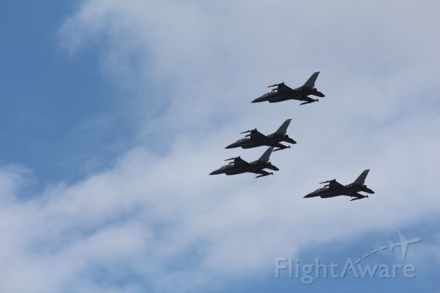 Lockheed F-16 Fighting Falcon (MILITARY) - F-16's flyover South Florida in recognition of essential workers.