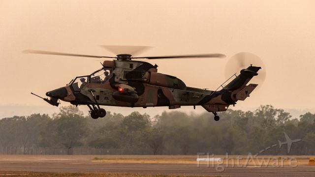A38012 — - Take-off in smokey post sunset conditions.  Eurocopter ARH-90.