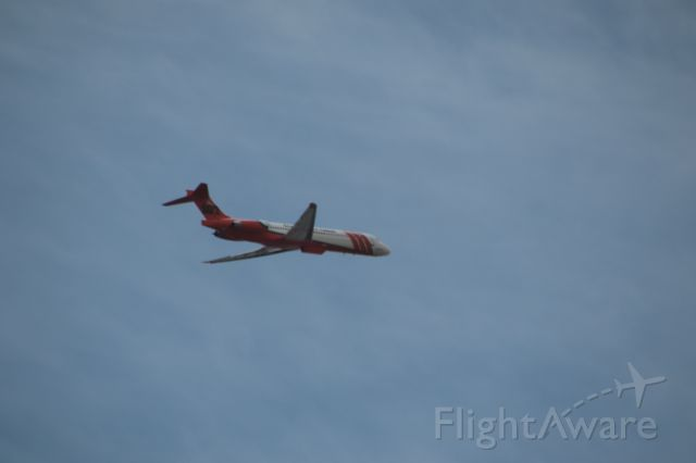 McDonnell Douglas MD-87 (TNKR107) - TNKR pulling of a drop on the Poeville Fire.  Photo taken by my wife Jan Edwards 6/27/20