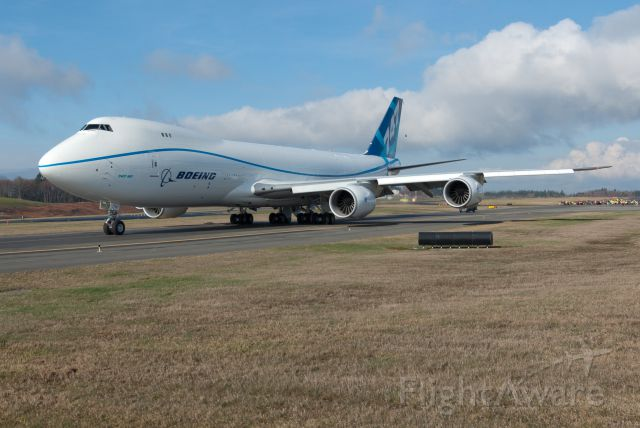Boeing 747-200 (N747EX) - Rolling out for first flight