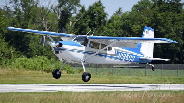 Cessna Skywagon (N185US) - Touching down at home base
