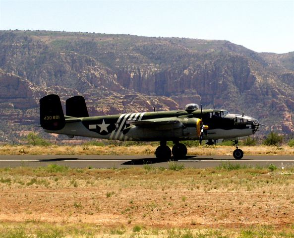— — - B-25 in Sedona on Display