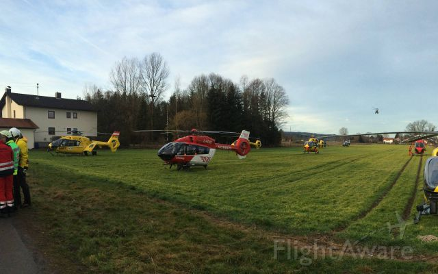 Eurocopter EC-635 (D-HDSG) - EC-H145 rescue helicopter , Train Crash - Bad Aibling<br />in use 10 rescue helicopter , ADAC , DRF , DL