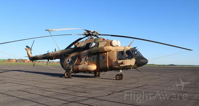 — — - A Mil Moscow Mi-17 Hip in Afghan Air Force colors at Carl T. Jones Field, Huntsville International Airport, AL - May 1, 2017.