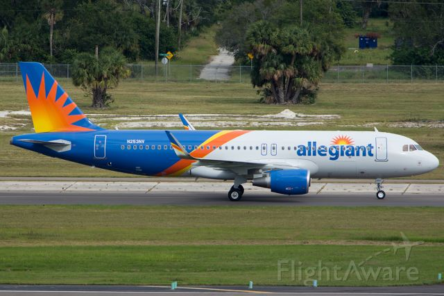 Airbus A320 (N253NV) - Taxiing after arriving on delivery flight
