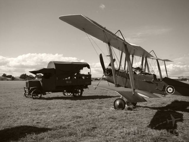 — — - Somewhere in France.....or Hood Aerodrome, Masterton New Zealand with restored BE2f.