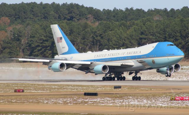 Boeing 747-200 (92-9000) - Air Force One departing Jackson carrying President Donald J. Trump.