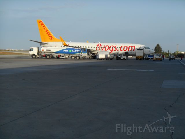 Boeing 737-800 (TC-ACP) - Pegasus Airlines Boeing 737-800 stands at Ercan Airport, North Cyprus. Taken on Tuesday 3rd June 2014 at 06:40 EEST - owned wholly by asmaffei