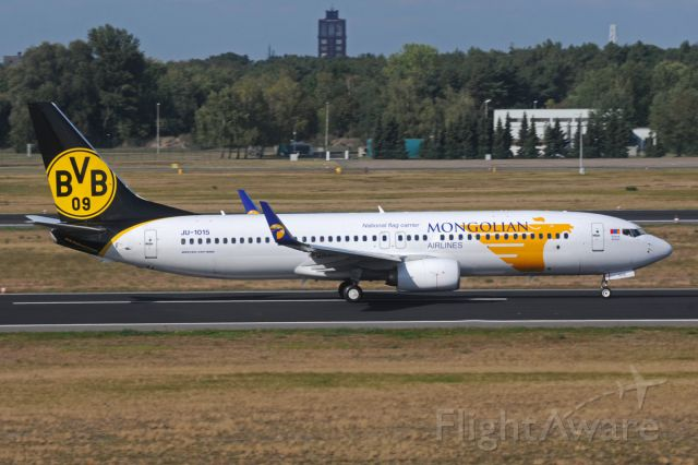 "Boeing 737-800 (JU-1015) - Special ""BVB-Borussia Dortmund"" football club c/s"