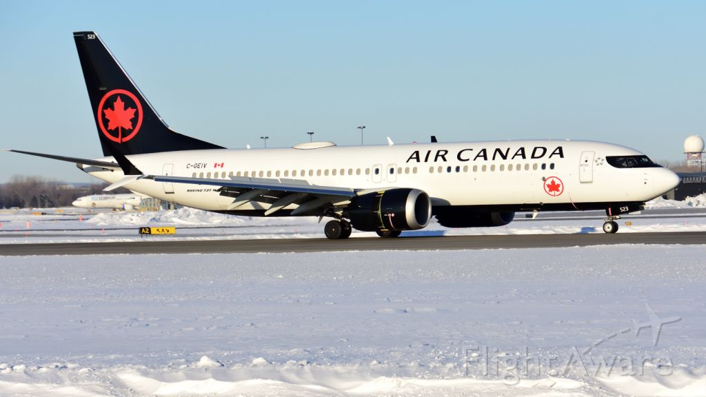 Boeing 737 MAX 8 (C-GEIV) - Training flight arriving from YYZ.