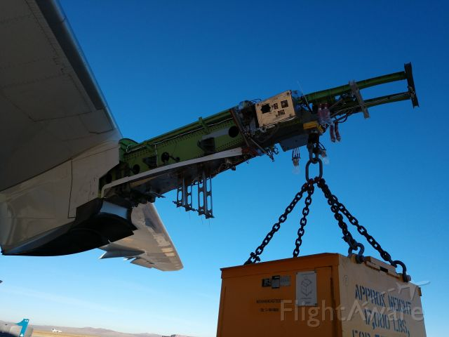Boeing 787-8 — - A demonstration of the pylon strength for a 787.  Single point of contact.
