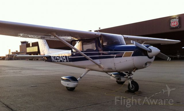 Cessna 152 (N25497) - Just landed and parked at the Jet Center at Tyler Airport in Texas.