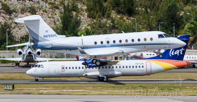 IAI Gulfstream G280 (N696HC) - N696HC landing at TNCM St Maarten 16/02/2019