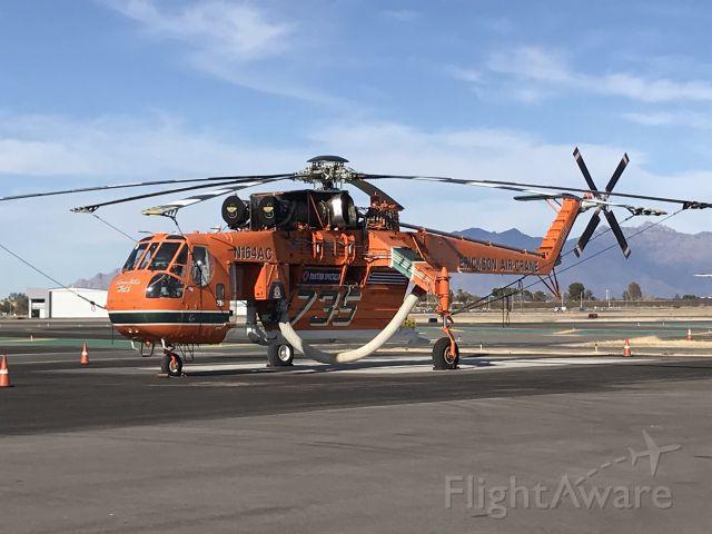 Sikorsky CH-54 Tarhe (N164AC) - On the ramp in Tucson, AZ.