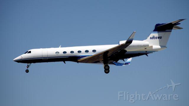 Gulfstream Aerospace Gulfstream V (N608WB) - Hewlett Packard corporate jet, landing 30L