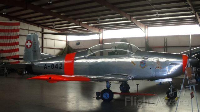 Lockheed P-2 Neptune (N842JM) - Pilatus P-3 at North Carolina Aviation Museum in Asheboro, North Carolina.
