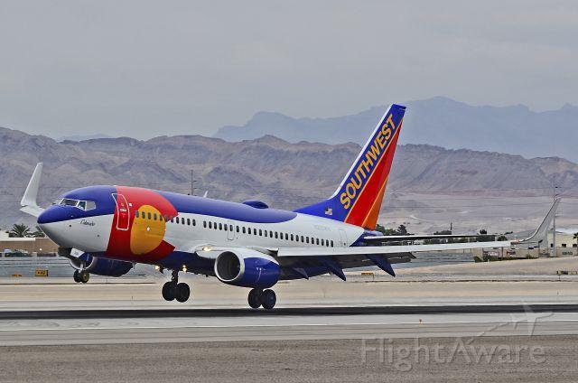 """Boeing 737-700 (N230WN) - N230WN  Southwest Airlines 2006 Boeing 737-7H4 (cn 34592/1868)  """"Colorado One"""" - McCarran International Airport (KLAS)<br />Las Vegas, Nevada<br />TDelCoro<br />October 09, 2013"""