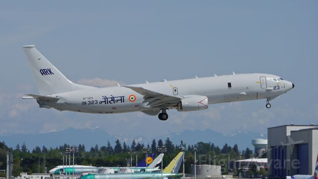 Boeing P-8 Poseidon (N718DS) - BOE204 from KBFI makes a missed approach to Rwy 16R during a flight test on 5/7/14. The aircraft is a P-8I / B737-8FV for the Indian Navy. (LN:4399 / cn 40613).