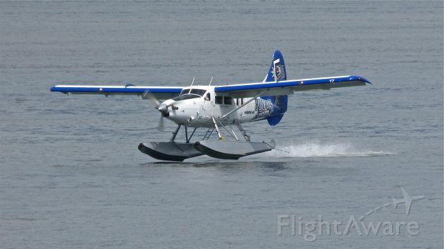 De Havilland Canada DHC-3 Otter (C-GHAG) - A Harbour Air Ltd DHC-3 (Ser#214) landing at Vancouver, BC air harbour on 5/19/13.