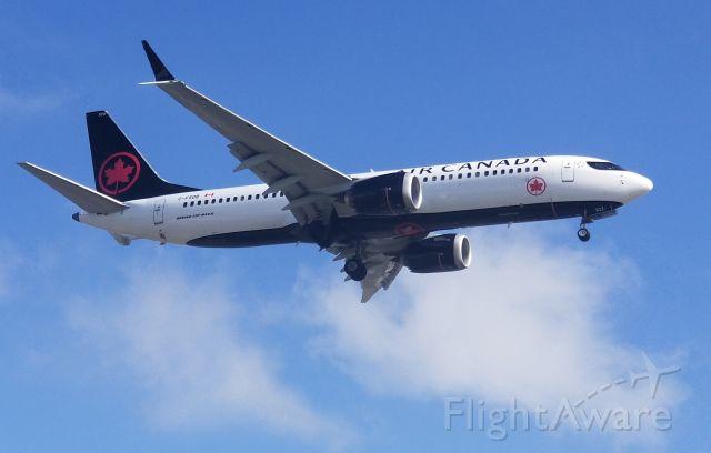 C-FSDB — - Air Canada 737-MAX8 landing LAX 24R.