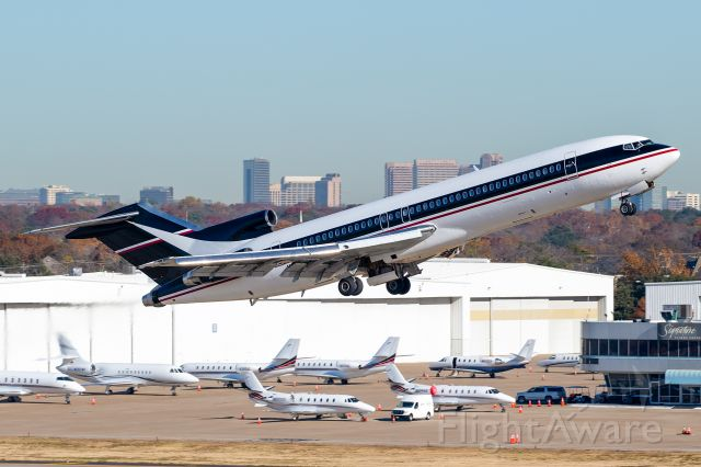 """BOEING 727-200 (N438BN) - A wonderful surprise to see this classic 45 year old 727-200 depart Dallas Love Field this morning. br /This particular 727 has a storied career, starting off with Braniff International Airways in May of 1975. It then changed hands to People Express and was even flown by Southwest Airlines for a short time! It ended up eventually being most well known as the team transport for the MLB's Colorado Rockies before being placed into storage in 2016. br /In September 2019, the aircraft changed ownership to """"CARIBBEAN CARGO CARRIERS LLC, and interestingly, the registration was reverted from N17773 back to its former Braniff registration, N438BN. The aircraft was then flown out of the Marana, AZ boneyard to Kansas City. After multiple attempts to fly the 727 to Dallas Love Field, the aircraft finally touched down on December 5th. After 5 days, the aircraft departed for Miami. br /It's unknown what will become of this aircraft but clearly there is something in the works. Either way, it's fantastic to see another one of these beautiful tri-holers snatched from the grave. A boneyard story with a happy ending!"""