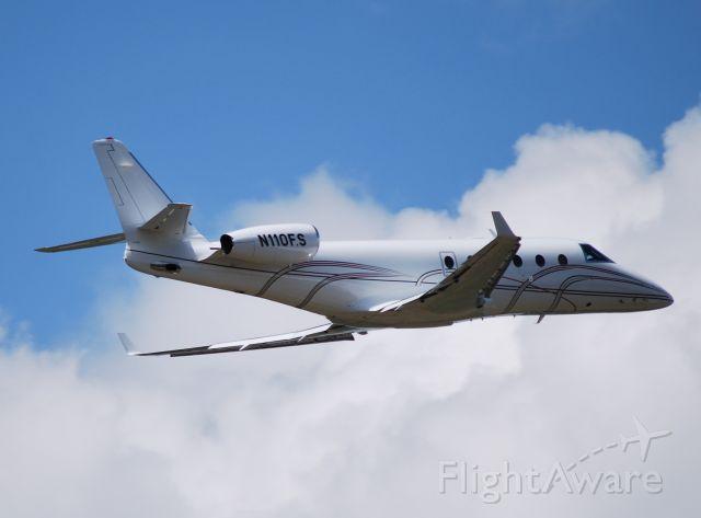 IAI Gulfstream G150 (N110FS) - TRINITY AVIATION CHARTERS LLC (NASCAR team co-owner Felix Sabates) departing 02 - 4/21/10