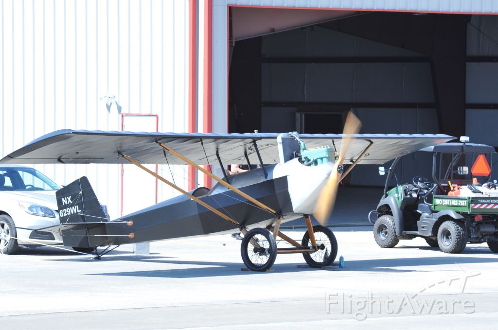 Experimental  (NX629WL) - Test running experimental on ramp at KLVJ. Water cooled Ford Model A motor, hand built prop.