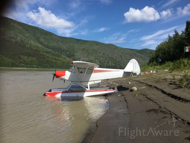 Piper L-21 Super Cub (N1907A) - 07A with new water shoes!