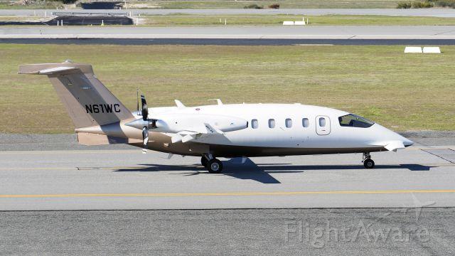 Piaggio P.180 Avanti (N61WC) - Piaggio P180 EVO. N61WC heading for runway 03 YPPH 310719