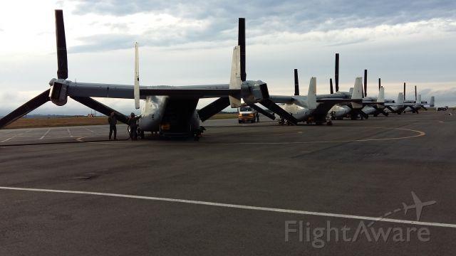 Bell V-22 Osprey — - U.S.M.C Osprey Fleet at ST.Johns Newfoundland Canada