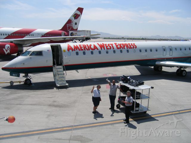 Canadair Regional Jet CRJ-900 — - America West Express and the America West Cardinal 57 service to HNL