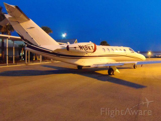 Cessna Citation CJ1 (N19KT) - N19KT at dusk under the lights at Marco Island April 12th 2013 / Geoff Cook