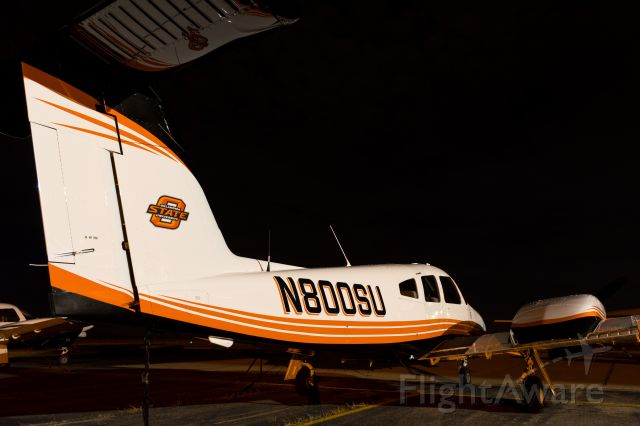 Piper PA-44 Seminole (N800SU) - Nighttime shot of N800SU after delivery to OSU Flight Center.