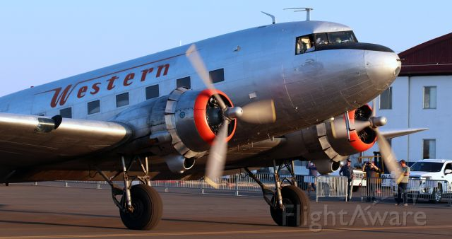 Douglas DC-3 (N33644) - Arriving at Reno Stead to go on static display during the 2021 National Championship Air Races.