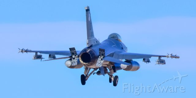 Lockheed F-16 Fighting Falcon (UNKNOWN) - USAF F-15 landing 3L Nellis AFB during Operation Red Flag