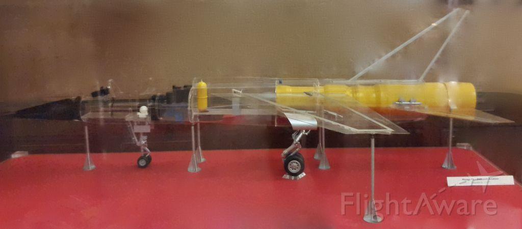IAI Dagger — - unique plexiglass scale model of Dassault Mirage F1 preserved at Aéro-Club de France, Paris.