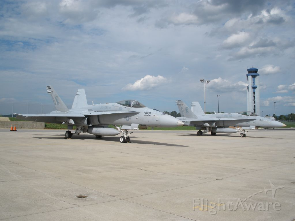 VFA106 — - Pic of both Hornets after V.T. flyover.These were from NAS Oceana VFA-106 Gladiators