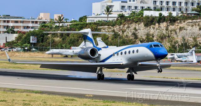 Gulfstream Aerospace Gulfstream V (N5VS) - N5VS (2005 GULFSTREAM AEROSPACE GV-SP (G550) owned by EMB EQUIPMENT LLC) seen landing at TNCM St Maarten.