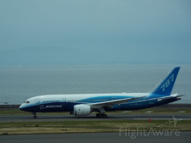 Boeing Dreamliner (Srs.8) (N787BA) - First Flight of the testing aircraft.