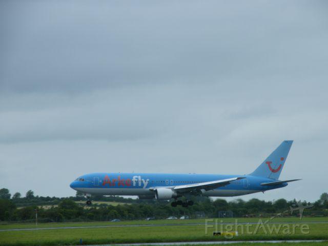 PH-AHQ — - PH-AHQ BOEING 767 ARR EINN JULY 15 2011 AS ARKELFLY 067P FOR MAINTENANCE WITH SHANNON AEROSPACE