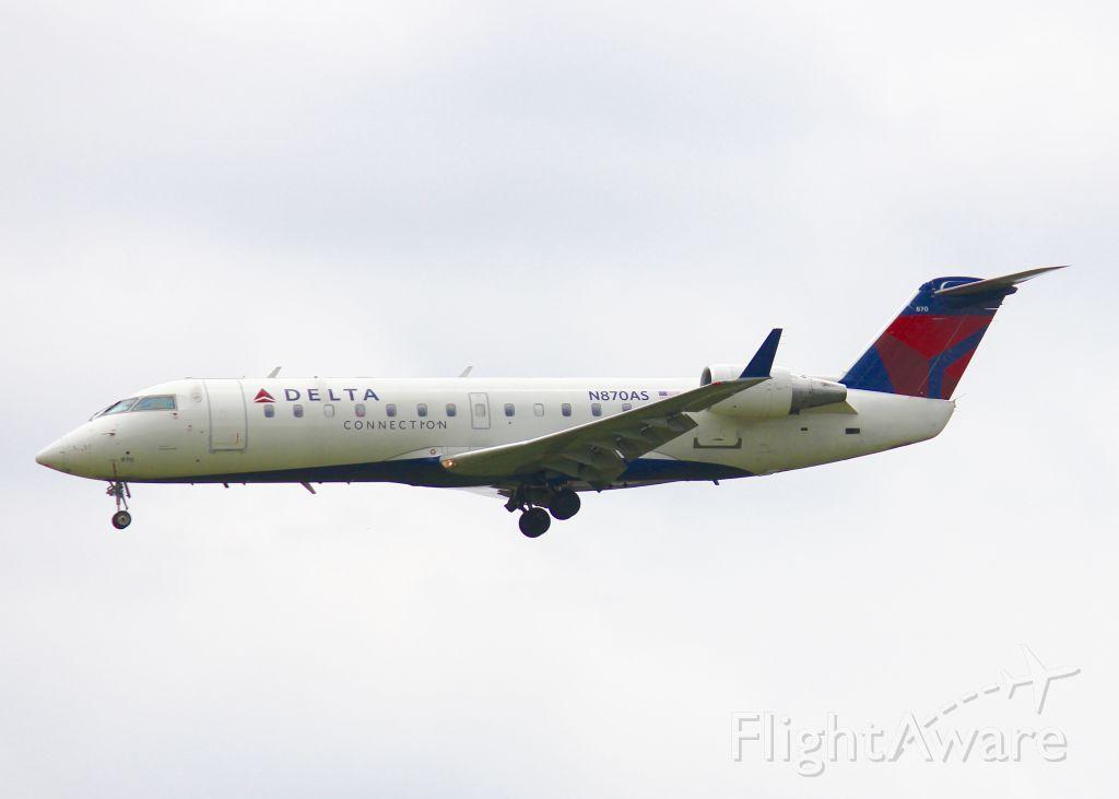 Canadair Regional Jet CRJ-200 (N870AS) - At Shreveport Regional.