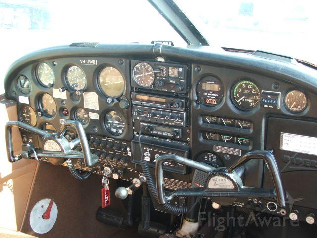 Piper Cherokee (VH-UWB) - Cockpit of my previous aircraft VH-UWB.