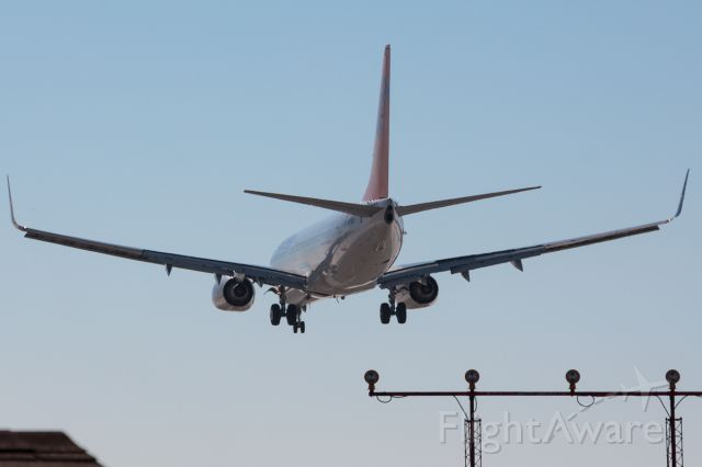 Boeing 737-700 (C-GVVH) - Rear View!