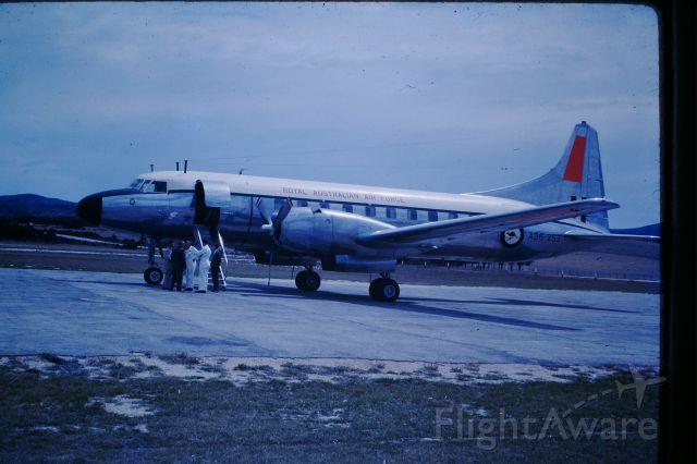 CONVAIR CV-340 Convairliner (A96353) - RAAF convair 440 at Flinders Island, circa 1964
