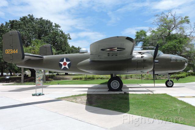 — — - Doolittle Raider Display: B-25, Naval Aviation Museum