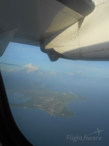 — — - Flying to Tobago from Trinidad for the day on Liat