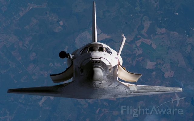 BOEING 737-300 (ELL104) - OV-104 Atlantis pitch maneuver Prior to ISS docking